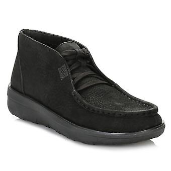 FitFlop Womens Black Loaff Slip On Ankle Boots
