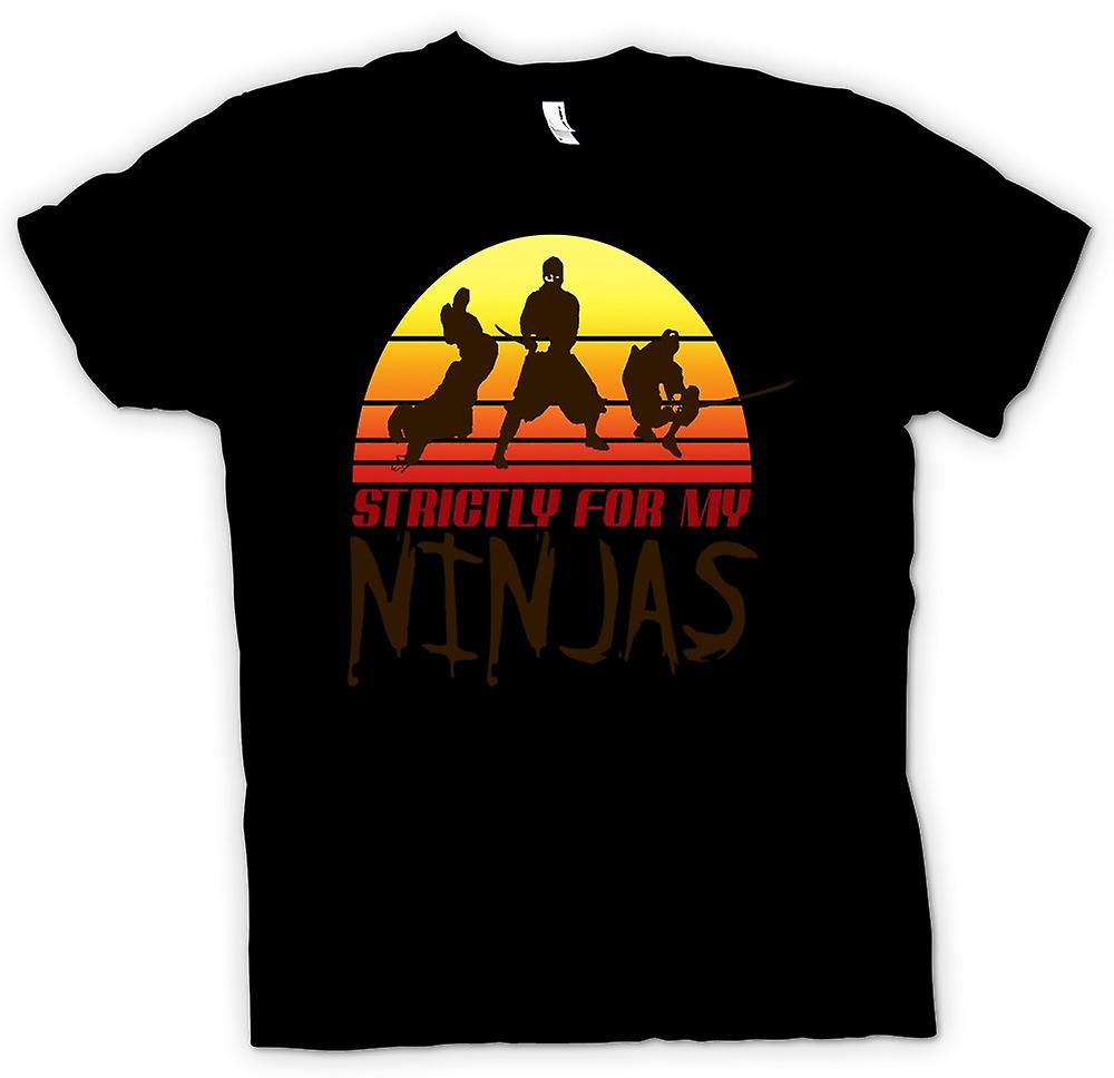 Kids T-shirt - Strictly For My Ninjas - Funny