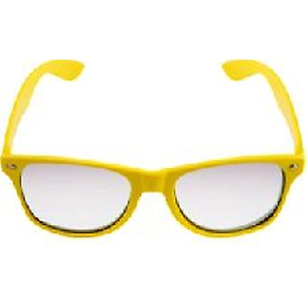 Yellow Neon Clear Lense Wayfarer Glasses