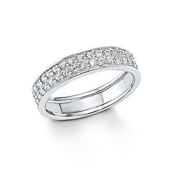 السيدات جويل s.Oliver خاتم الفضة زركونيا مكعب SO1129