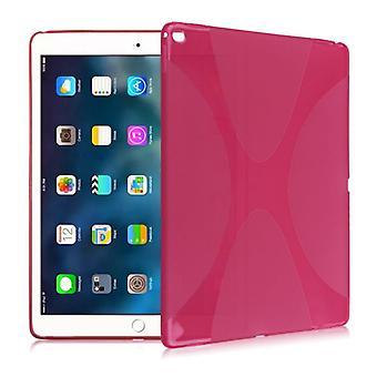 Beskyttende deksel silikon X-line serie rosa tilfelle for Samsung Galaxy tab S3 9,7 T820 T825