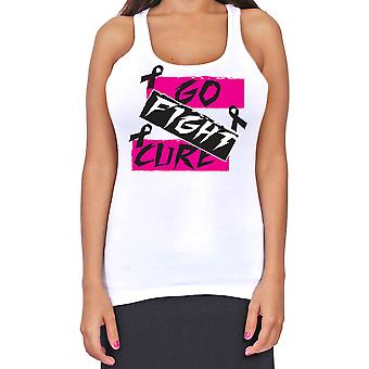 Juniors Dri Fit Go Fight Cure Breast Cancer Support T-Back Tank Top