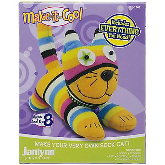 Claire The Cat Sock Animal Kit