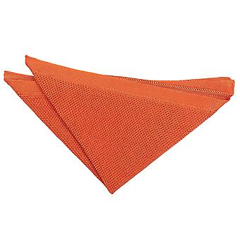 Burnt Orange Knitted  Pocket Square
