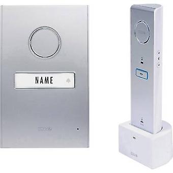 m-e modern-electronics 41063 Door intercom Radio Complete kit Detached Silver, White