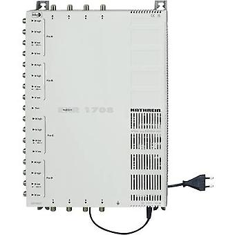 Kathrein EXR 1708 SAT cascade multiswitch Inputs (multiswitches): 17 (16 SAT/1 terrestrial) No. of participants: 8