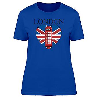 Red Telephone In The Uk Heart Tee Women's -Image by Shutterstock