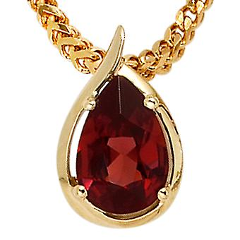 Garnet Garnet pendants pendants 585 Gold Yellow Gold 1 garnet red