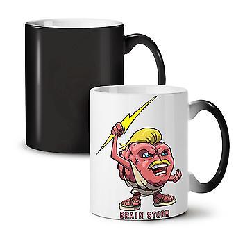Brain Storm God NEW Black Colour Changing Tea Coffee Ceramic Mug 11 oz | Wellcoda