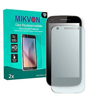 Wiko Cink Peax Screen Protector - Mikvon Clear (Retail Package with accessories)