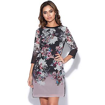 Autumn Floral Print Shift Dress