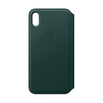 Apple iPhone XS Max in pelle Folio - Forest Green
