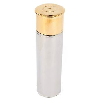David Van Hagen 2-Tone pistolet cartouche 3 oz Hip Flask - argent/or