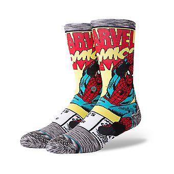 Stance Marvel Spiderman Comic Crew Socks