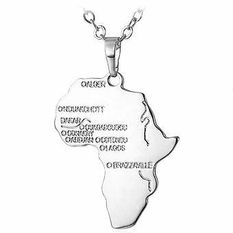 U7 Afrikahalsband-sølv