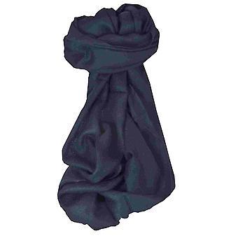 MENS Fine Cashmere Scarf Very Dark Blue by Pashmina & Silk