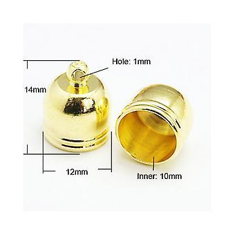 Pakket 10 x Gouden Geplateerde messing Bell-Shape einde Caps 12 mm HA03220