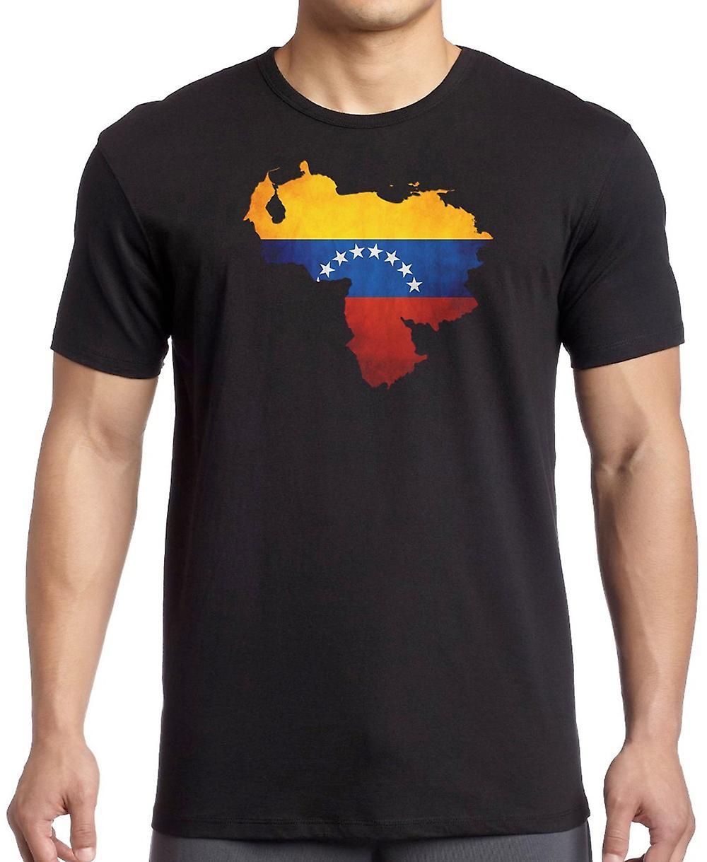 Venezuela Flag Map Kids T Shirt