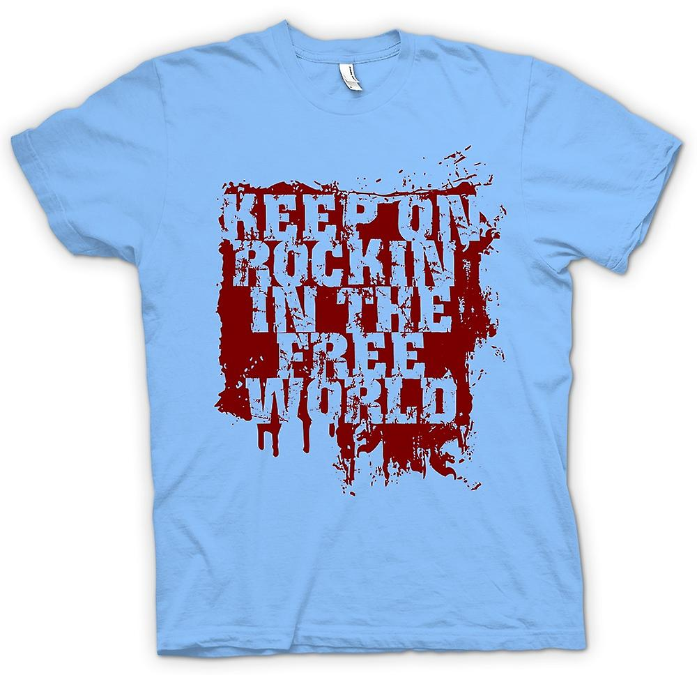 Mens T-shirt - Keep On Rockin In The Free World