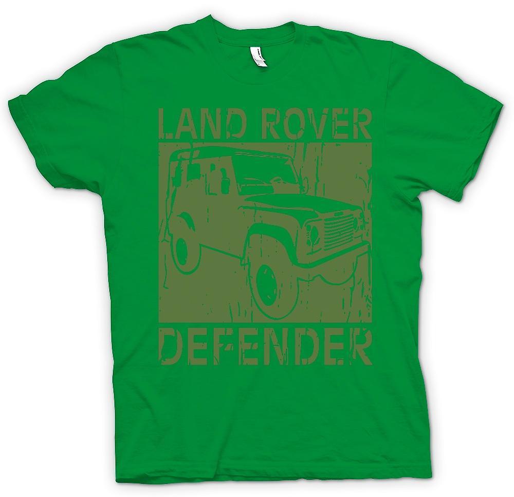 Herr T-shirt-Landrover Defender Offroad