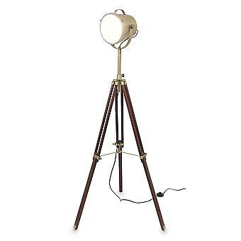 مصباح الرجعية السينما الطابق مصباح ترايبود خشبية براون همفري 10854