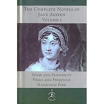 Complete Novels of Jane Austen: zin en gevoeligheid, Pride and Prejudice, Mansfield Park v. 1 (Modern Library)