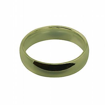 18 Karat Gold 6mm einfache Gericht Wedding Ring Größe Q geformte