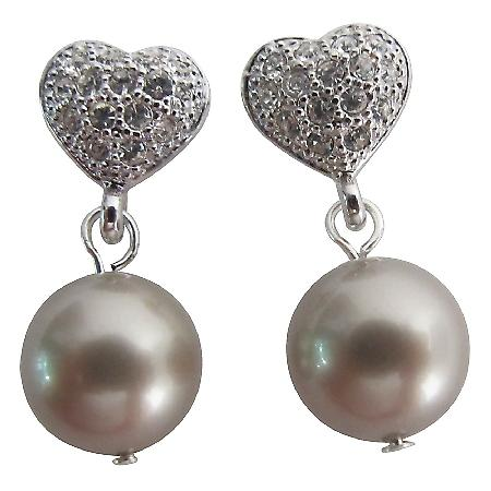 Timeless Jewelry In Latte Pearl Earrings Holiday Gift
