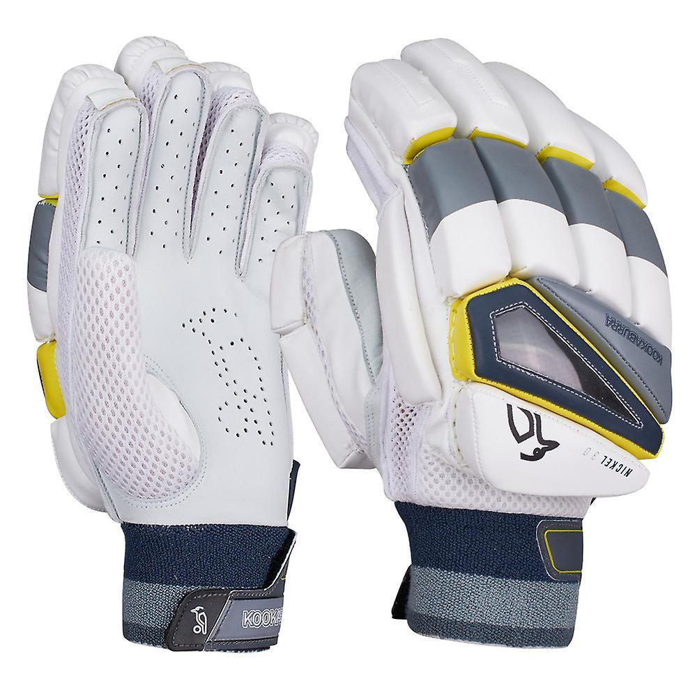 Kookaburra 2019 Nickel 3.0 Cricket Batting Gloves White/Grey