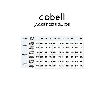 Dobell Mens Grey Suit Jacket Regular Fit Notch Lapel