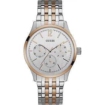Guess W0995G3 watch - shows steel date man