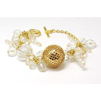 The Olivia Collection Goldtone & Clear Ball Bead Cluster 7