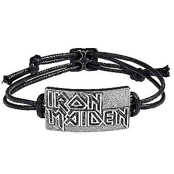 Iron Maiden logo koord armband (RO)