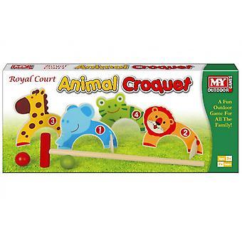 M.Y zwierząt krokietowego gra