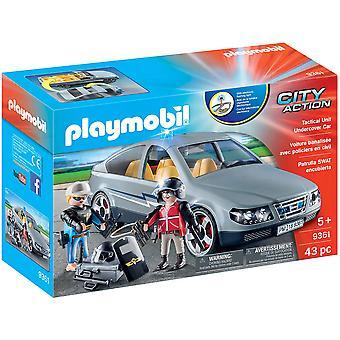 Playmobil 9361 City SWAT Undercover bil-blinkande blått ljus