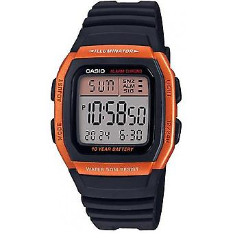 Casio W-96H-4A2VEF Watch-VINTAGE Orange Box digitale display mannen/vrouwen