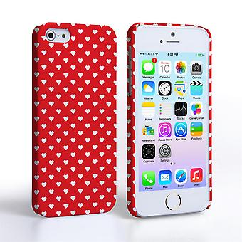 Caseflex iPhone 5 and 5S Cute Hearts Case - Red