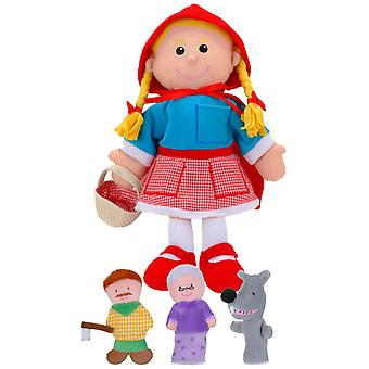 Fiesta Crafts Red Riding Hood Hand en Finger Puppet instellen