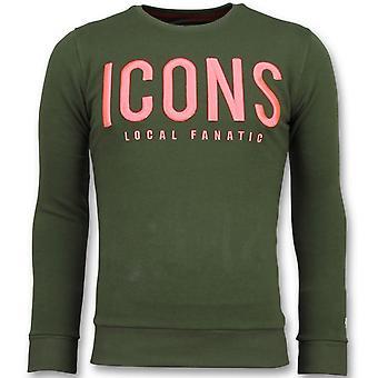 ICONS-Brand Sweatshirt men-6349G-Green