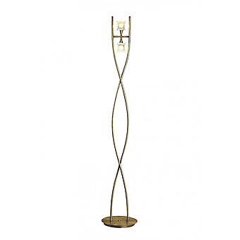 Mantra Rosa Del Desierto Floor Lamp 2 Light G9, Antique Brass