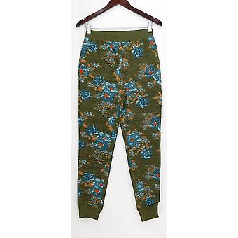 Denim & Co. Women's Pants XXS Active Printed French Terry Green A309341