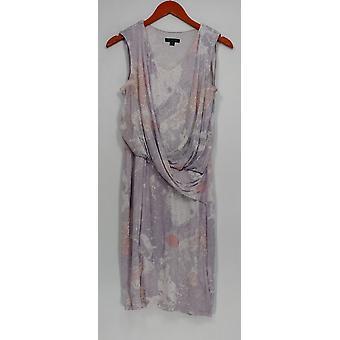 H door Halston jurk mouwloos draperen front licht paars A276402