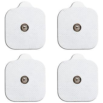 MED-FIT 5x5cm Pack of 40 Flexi Stim 3.5mm Stud TENS Self-Adhesive Pads