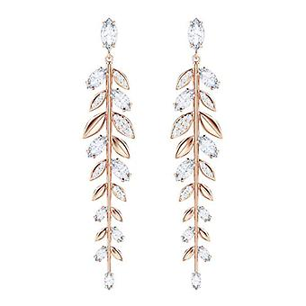Swarovski Earrings Mayfly - white - rose gold-plated