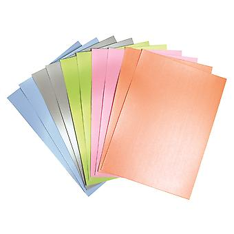 50 A4 Pearlescent Card Sheets for Kids Crafts | Coloured Card for Crafts