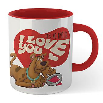 Scooby Doo It's No Mystery I Love You Becher - weiß/rot