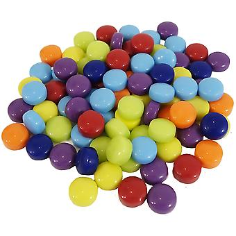 Mosaic Dots Glass Rounds 8oz-Assorted Colors MS346