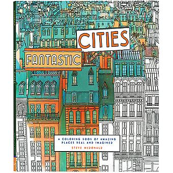 Chronicle Books-Fantastic Cities Coloring Book CH-14957
