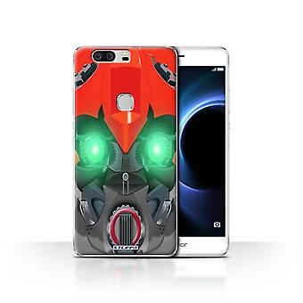 STUFF4 Case/Cover for Huawei Honor V8/Bumble-Bot Red/Robots