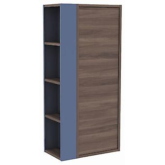 Bath+ Wardrobe With Shelf Side Fresno-Blue 46X25X100Cm